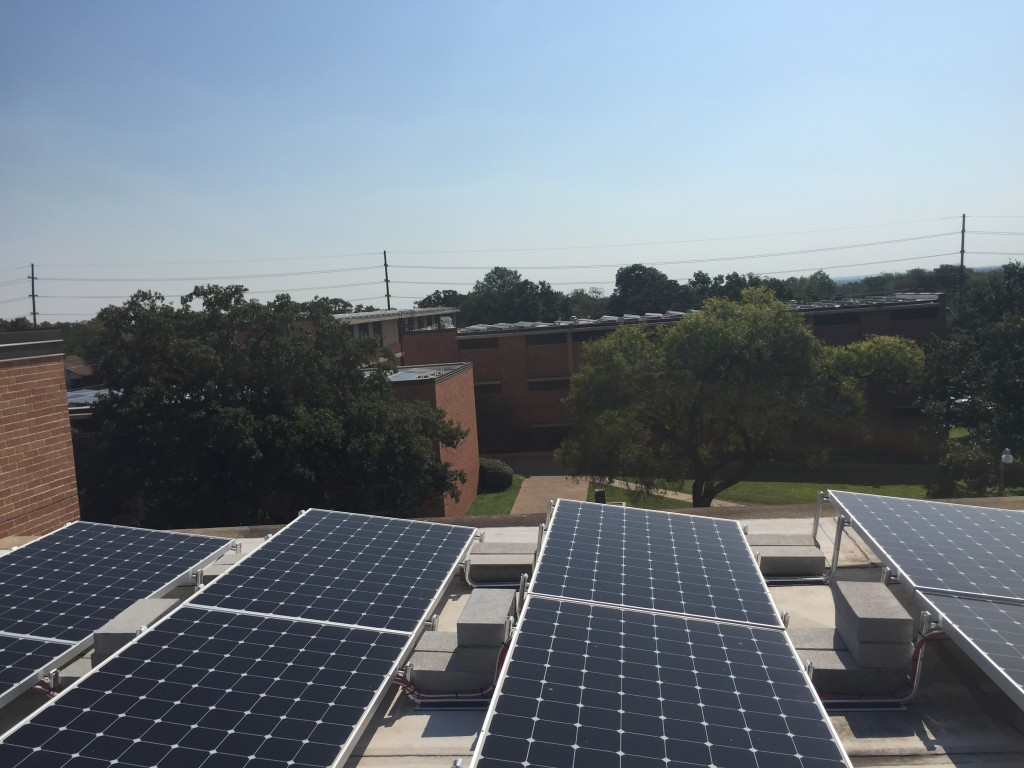 Solar energy installations at Huston-Tillotson University - by Rachel Stone