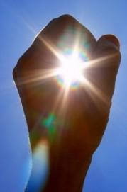 Sun in fist